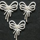 Lot of 3 Wedding Rhinestone Crystal Bow Butterfly Brooch Pin Jewelry