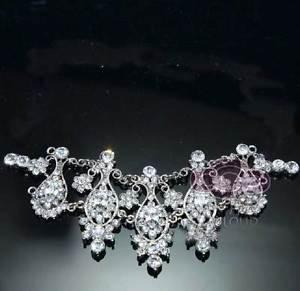 Wedding Bridal Rhinestone Crystal Tiara Hair Accessories Pendant Jewelry