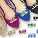 Wedding Glass Rhinestone Crystal Wedding Boots Shoe Charms Clips Jewelry