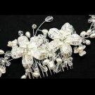 Rhinestone Crystal Wedding Flower Beaded Crystal Hair Comb Headpiece