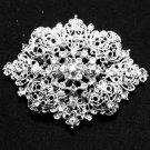Wedding Bridal Bride Rhinestone Crystal Oval Vintage Style Brooch Pin Jewelry