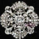 Wedding Bridal Rhinestone Crystal Vintage Style Brooch Pin Dress Sash Jewelry