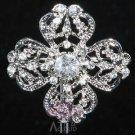 Vintage Style Cross Wedding Bridal Rhinestone Crystal Cake Brooch Pin Jewelry