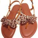 Sexy Leopard Skin Pattern Ribbon Bow Women Boots Flip Flop Shoe Clips Pair