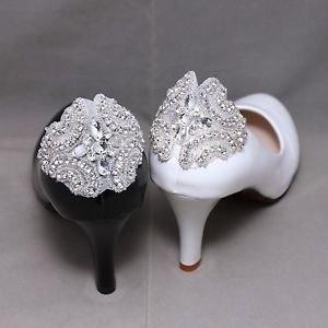 Rhinestone Crystal Vintage Style Wedding Diamante Bridal Shoe Clips