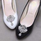2 pcs x Bridal Vintage Style Rhinestone Dangle Shoes Wedding Crystal Shoe Clips