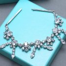 Wedding Rhinestone Crystal Hair Chain Bridal Dangle Drop Hair Clip Headpiece