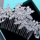 Wedding Headpiece Bridal Hair Accessories Rhinestone Crystal Flower Hair Comb