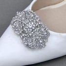Vintage Style Rhinestones Crystal Wedding Bridal Party Shoe Clips Pair