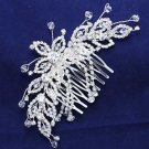 Bridal Flower Crystal Wedding Headpiece Hair Rhinestone Comb Accessories