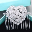 Wedding Hair Comb Bridal Headpiece Heart Shape Hair Accessories Wedding Jewelry
