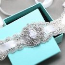 Crystal Rhinestone Applique Embellishment Wedding Bridal Sash Belt