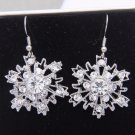 Snow Snowflake Rhinestone Crystal Earrings Wedding Bridesmaids Winter Jewelry