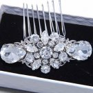 Bridal Head Pieces Flower Wedding Headpiece Wedding Rhinestone Hair Comb Clip