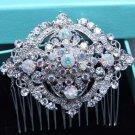 Vintage Style Aurora Rhinestone Crystal Hair Comb Wedding Head Accessories