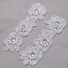 2 pcs Wedding Rhinestone Flower Applique Bridal Garter Gloves Craft Supplies
