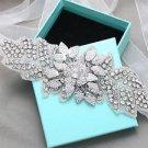 Crystal Rhinestone Applique Wedding Bridal Sash Belt Or Flower Bouquet Wrap