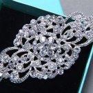 Bridal Rhinestone Jewlery Crystal Rhombus Vintage Style Brooch Pin