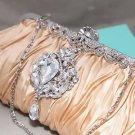 Champagne Gold Dangle Brooch Wedding Shoulder Handbag Purse Wallet Clutch Bag