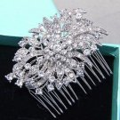 Bridal Crystal Head Pieces Wedding Headpiece Wedding Rhinestone Hair Comb Clip