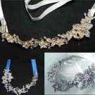 Mix of 3 Assorted Bridal Wedding Jewelry Rhinestone Crystal Hair Ribbon Headband