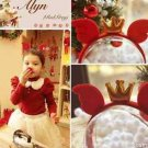 Girl Party Gold Crown Hair Accessories Red Headband Alice Band