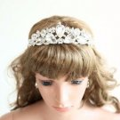 Teardrop Rhinestone Crystal Princess Crown Wedding Headpiece Bridal Hair Tiara