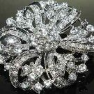Bridal Rhinestone Flower Bouquet Crystal Decoration Jewelry Wedding Brooch Pin