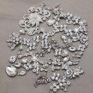 Mix Alloy Sliver Rhinestone Crystal DIY Wedding Jewelry Making Craft Supplies