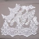 Mix Lots Venice Venise Lace Flower Motif Sewing Floral Beaded Applique