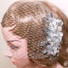 Bridal Rhinestone Comb Wedding Hair Accessories Crystal Headpiece Birdcage Veil