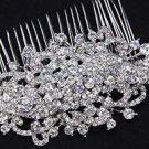 Vintage Style Bridal Headpiece Wedding Crystal Rhinestone Large Hair Comb