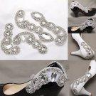 Wedding Crystal Shoe Decoration Rhinestone Bridal Shoe Applique Patch