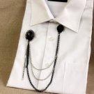 Punk Style Wedding Rhinestone Sweater Chain Corsage Tassel Brooch Pin