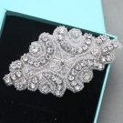 Beaded Applique Rhinestone Comb Wedding Hair Clip Crystal Headpiece Jewelry