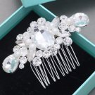 Pearl Bridal Rhinestone Comb Wedding Vintage Hair Comb Crystal Headpiece