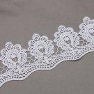 1 Meter Off White Ivory Bridal Wedding Flower Floral Vintage Lace Applique Trim