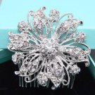 Round Vintage Style Bridal Rhinestone Comb Wedding Hair Head Crystal Headpiece