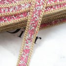 2 Meter Azalea Beaded Crystal Wedding Sash Gold Chain Trim Iron Sew Applique