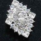 Rhombus Vintage Style Wedding Bridal Rhinestone Craft Button, Flat Back