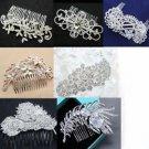 4 Random Pick Rhinestone Wedding Headpiece Bridal Hair Comb Crystal Accessories