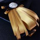 Pearl Lace Wedding Party Men Pre Tied Polyester Bow Tie Neck Tie