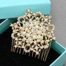 Crystal Headpiece Rhinestone Silver Wedding Freshwater Pearl Hair Comb Jewelry