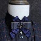 Dangle Rhinestone Crystal Mens Neck Tie Wedding Party wedding Bow Tie Necktie