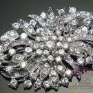 Vintage Style Bridal Rhinestone Crystal Brooch Pin Wedding Jewelry