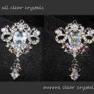 Vintage Style Rhinestone Crystal Dangle Pendant Charm Or Brooch Pin Jewelry