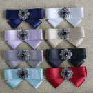 Mini Black Boys Kids Toddlers Vintage Style Wedding Party Pre Tied Bow Pin