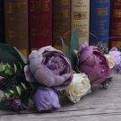 Wedding Headpiece Woodland Flower Wine Peony Hair Accessories Tiara