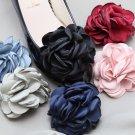 Color Fibre Rose Flower Wedding Spring Boots Shoe Clips Pair