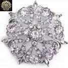 Wedding Flower Rhinestone Jewelry Crystal Cake Brooch Pin Bridal Accessories